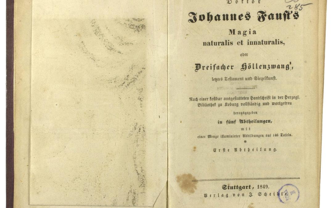 Faust's Magia naturalis et innaturalis
