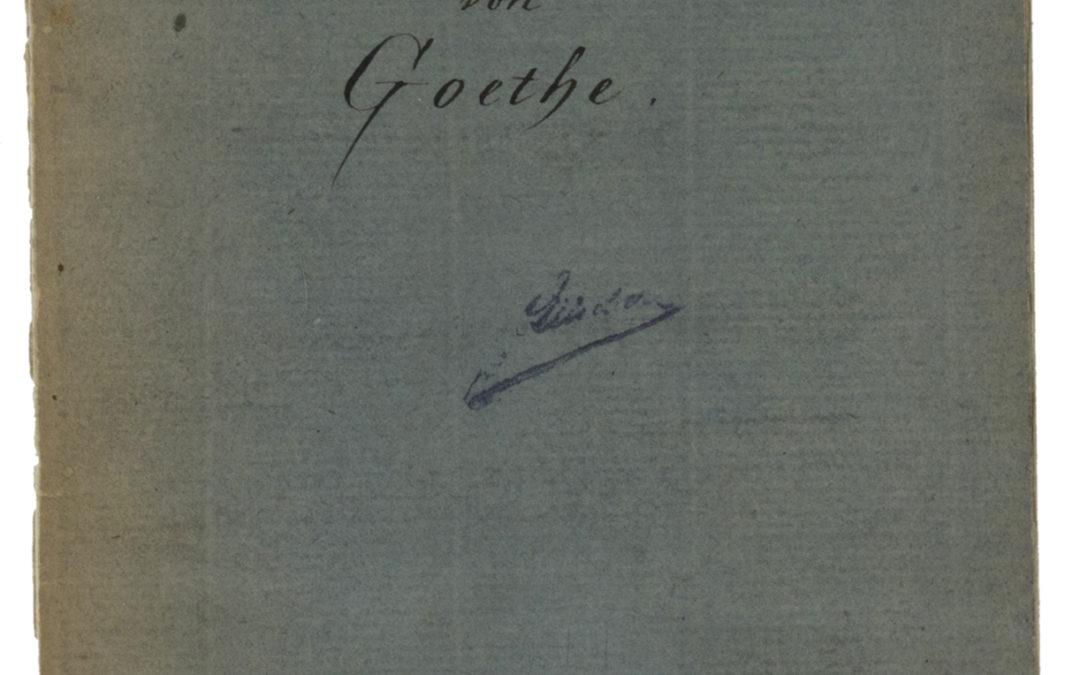 Der Kammerberg bei Eger von Goethe