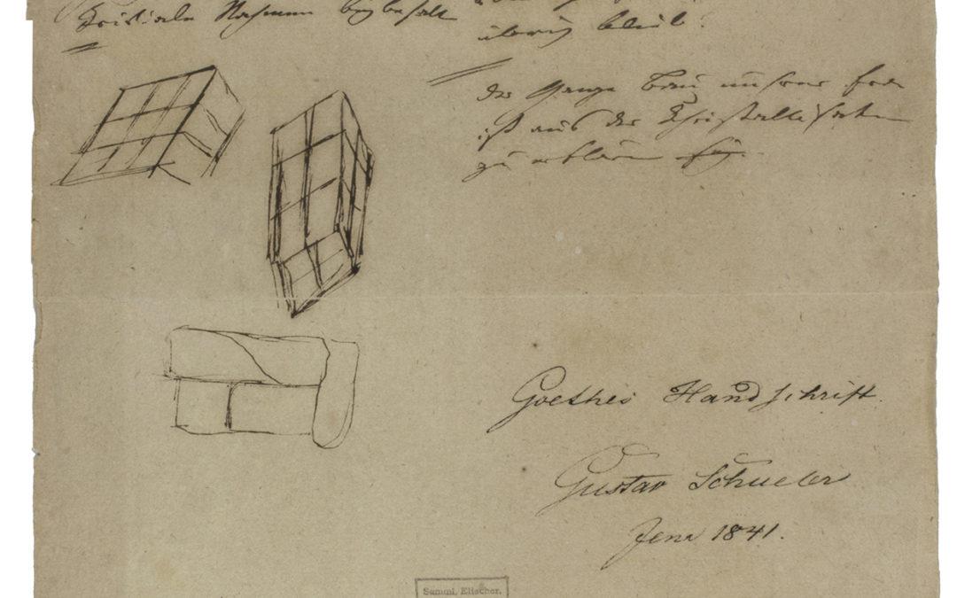 Goethe írása és rajza a gránitról