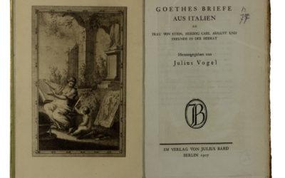 Goethe's Briefe aus Italien