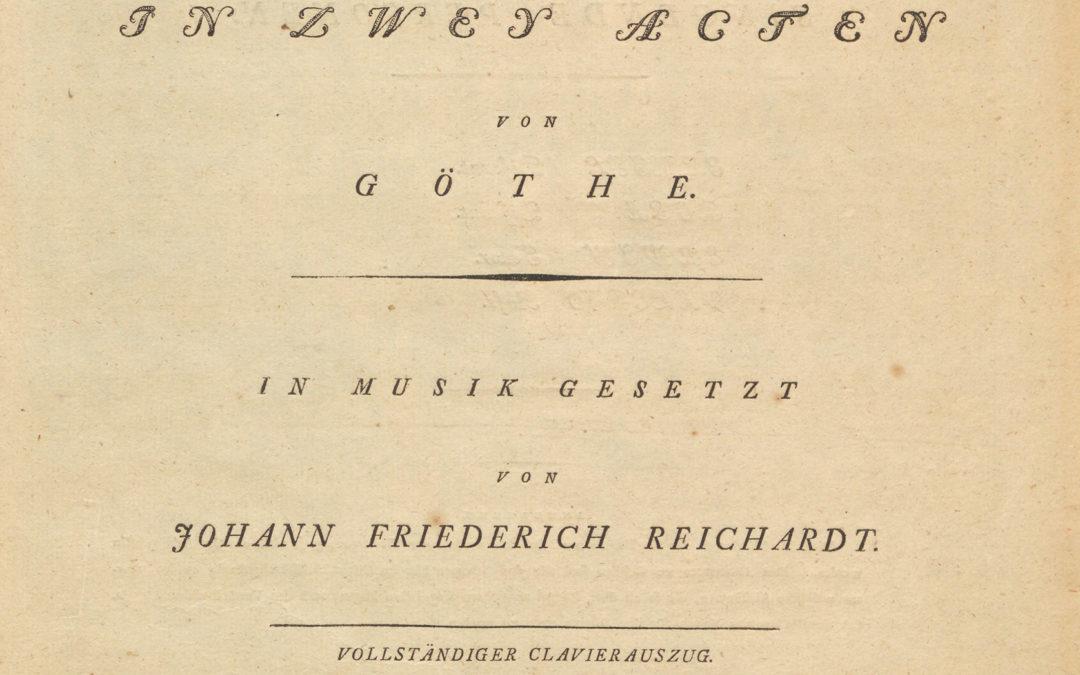 J. Fr. Reichardt: Erwin und Elmire