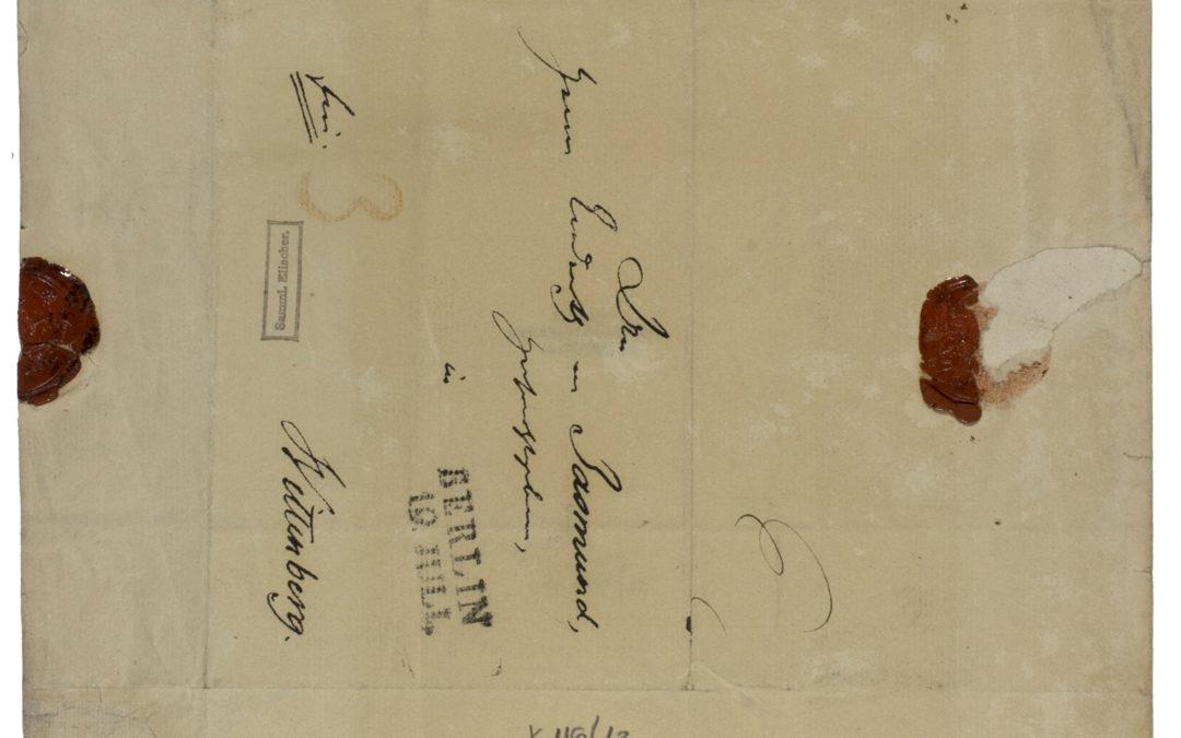 Wilhelm von Humboldt levele C. Fr. Jasmundnak
